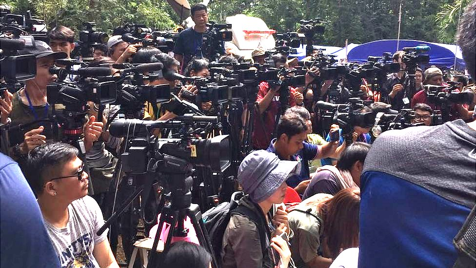 Media at the cave