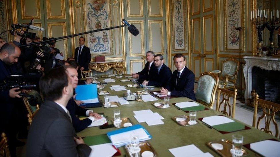 Macron en el Palacio del Elíseo
