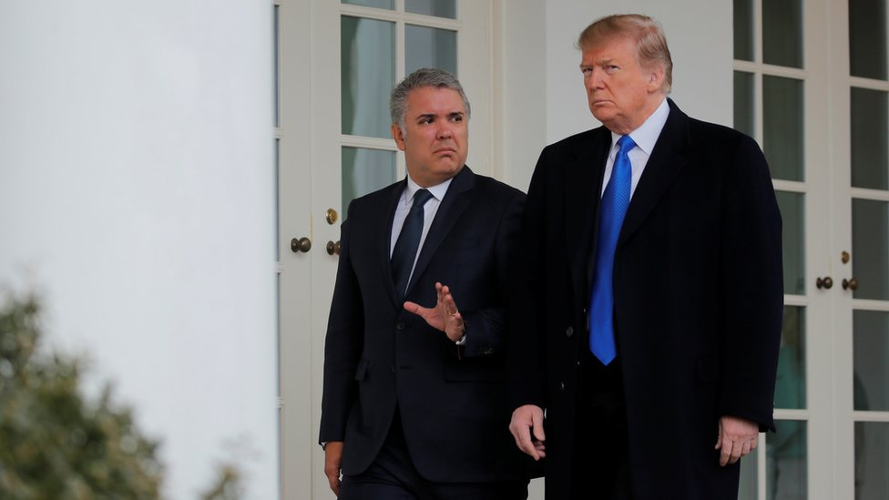 Donald Trump e Iván Duque