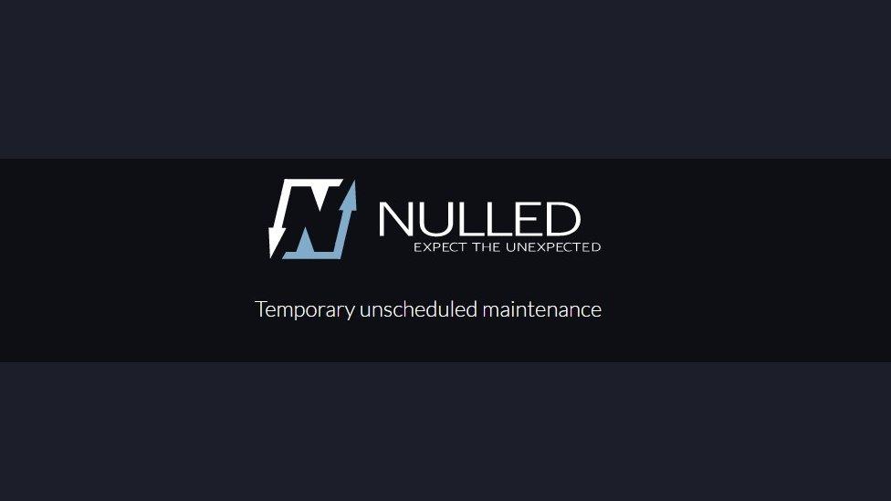 Nulled website offline page stating scheduled maintenance