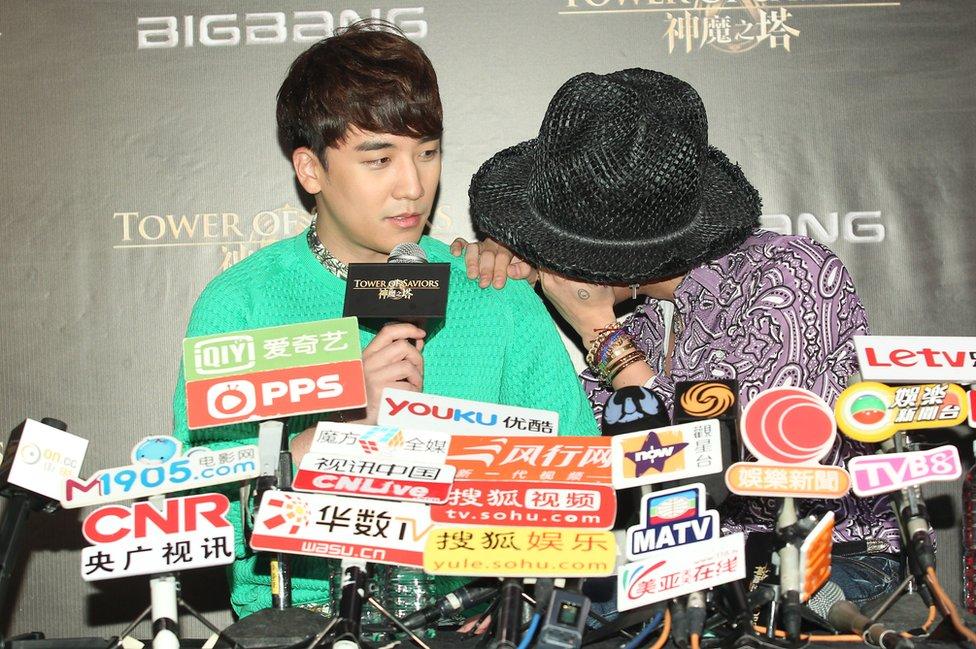 Seungri y G-Dragon