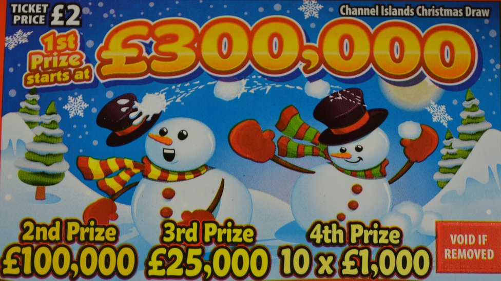 Channel Islands Christmas Lottery ticket