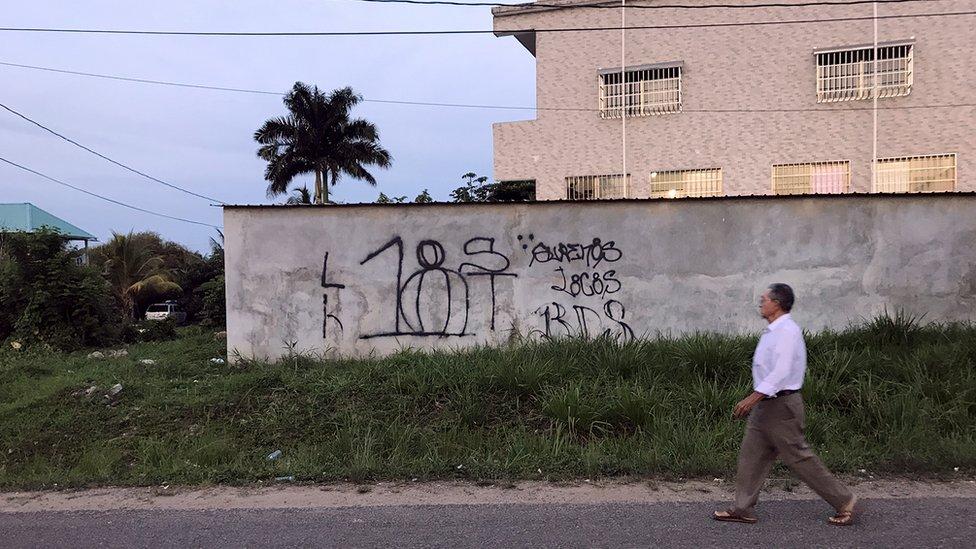 Pintada mara Barrio 18