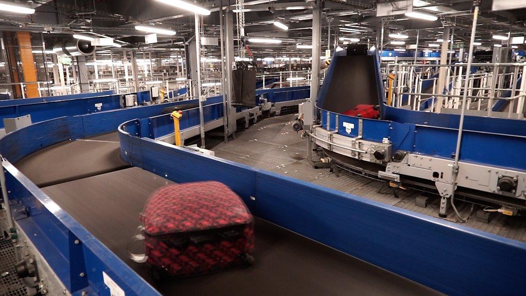 Inside Heathrow's high-tech baggage system