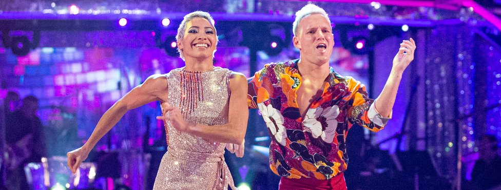 Jamie and Karen on Strictly Come Dancing