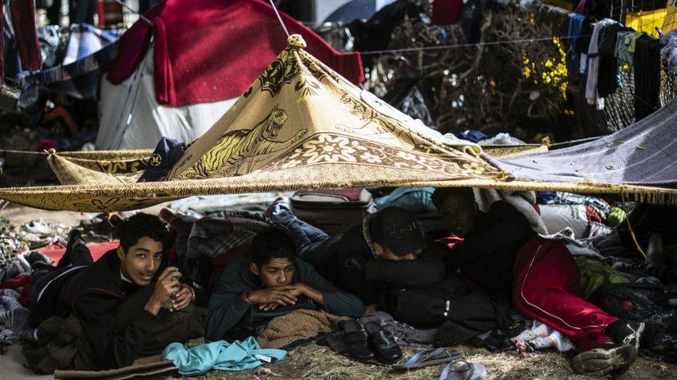 Migrantes Tijuana.