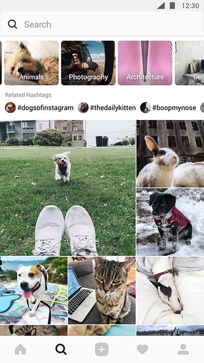 Explore de Instagram.