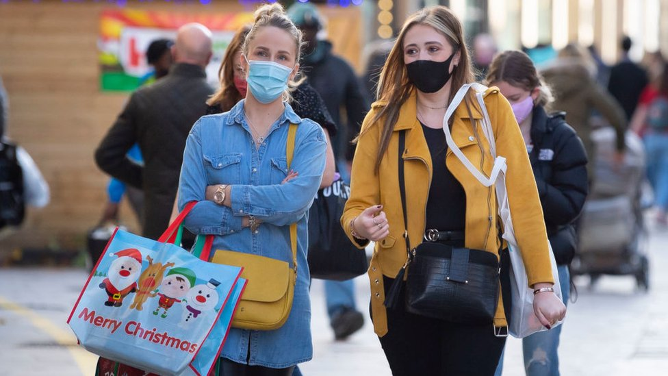 Shoppers in Wales