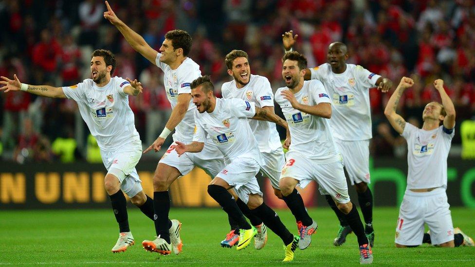 El Sevilla logró ganar tres Ligas Europa de manera consecutiva.
