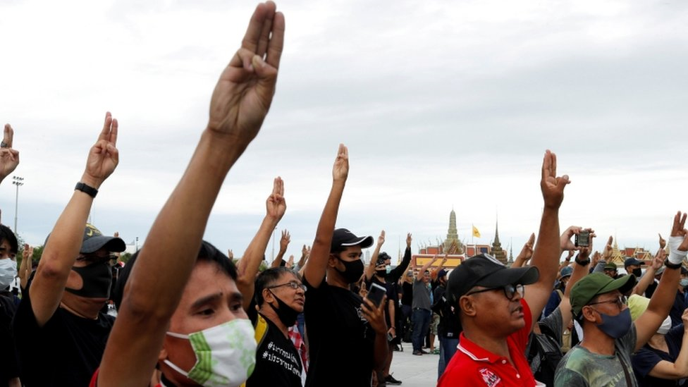 محتجون في بانكوك