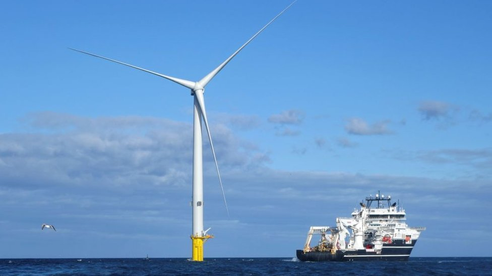 Turbines at Blyth Offshore Demonstrator Wind Farm built by EDF