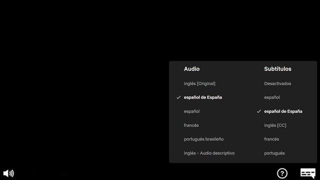 Captura de pantalla de Netflix