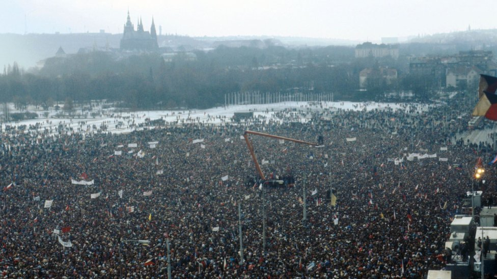 Demonstration on Letna Plain in Prague - 25 November 1989