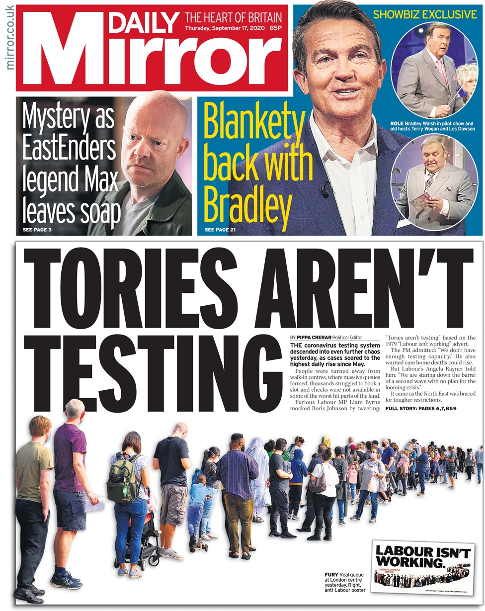 Daily Mirror 17 September
