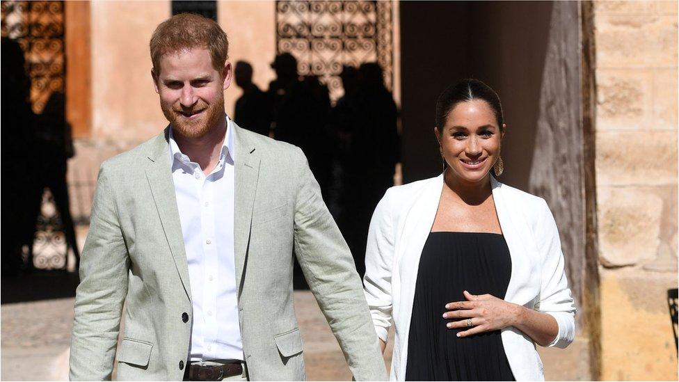 英國薩塞克斯公爵和夫人哈里和梅根