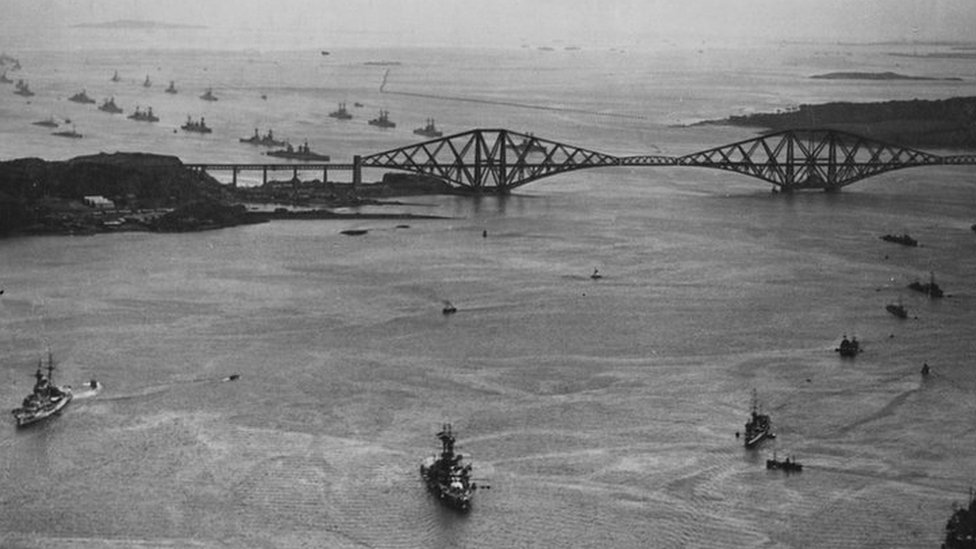 The day the German navy surrendered in the Forth