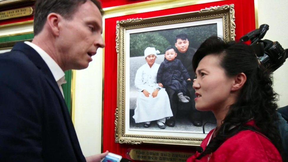 John Sudworth and North Korean guide