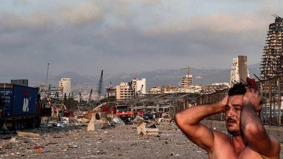 kerusakan akibat ledakan di Beirut