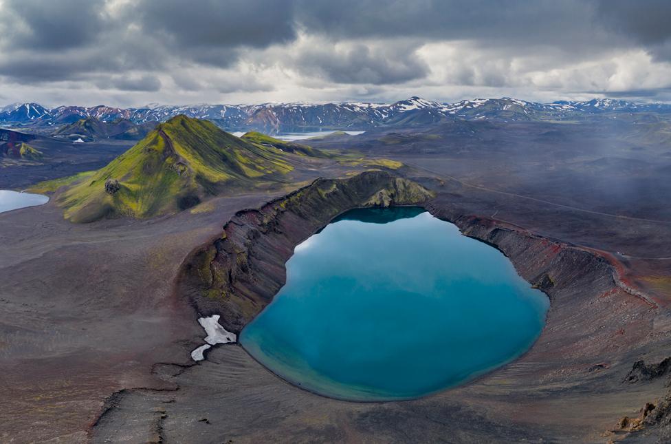 Fonte geotérmica na Islândia