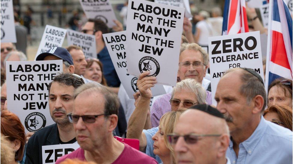 Protest against anti-Semitism