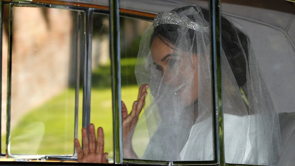 Royal wedding 2018: First glimpse of Meghan's wedding gown
