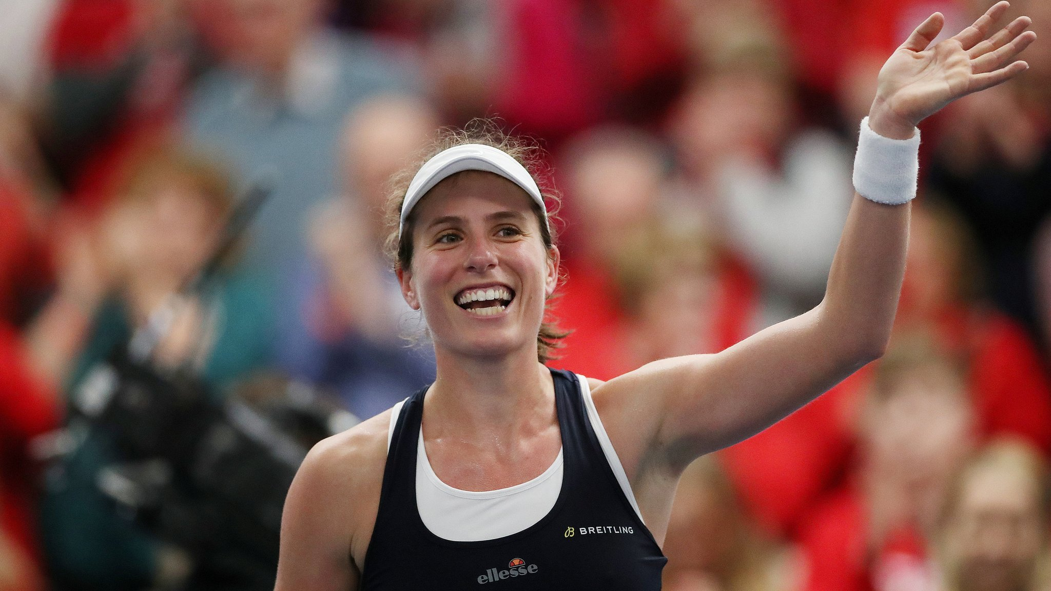 Konta fights back to give GB victory over Greece