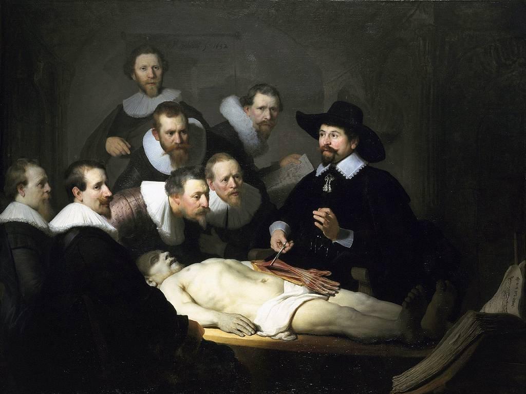 'La lección de anatomía del Dr. Nicolaes Tulp', 1632. Rembrandt van Rhijn (1606-1669).