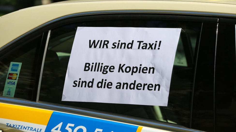 German taxi anti-Uber protest
