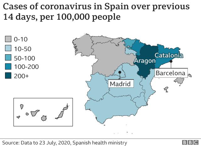 Coronavirus Uk Quarantine Restrictions Unjust Spain Pm Bbc News