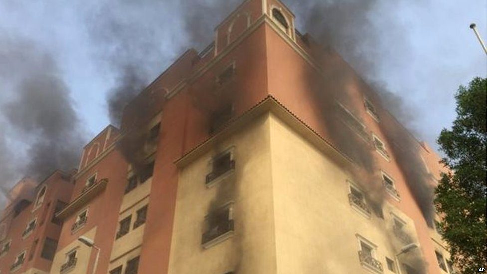 Deadly Saudi Arabia fire at Aramco complex in Khobar - BBC News