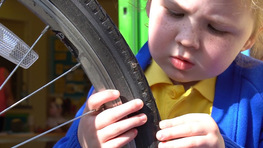 Meet the kids learning to fix punctures
