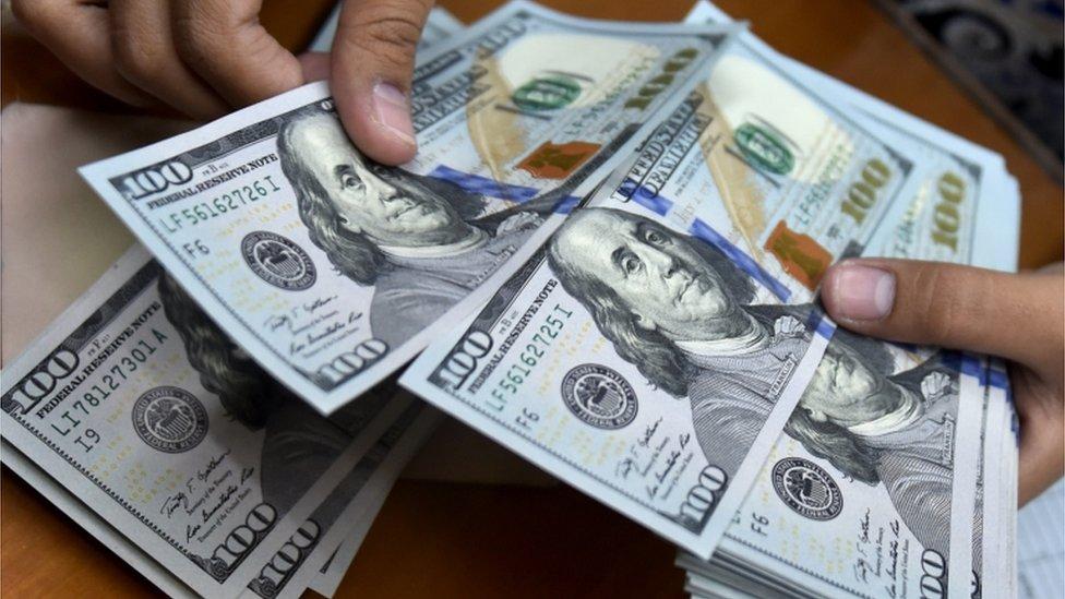 Billetes de dólares NO USAR / BBC