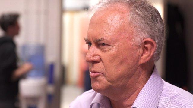 Australian cricket commentator Jim Maxwell