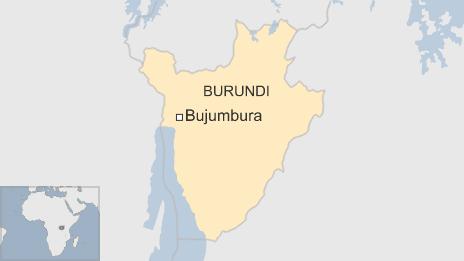 map of Burundi showing location of capital Bujumbura