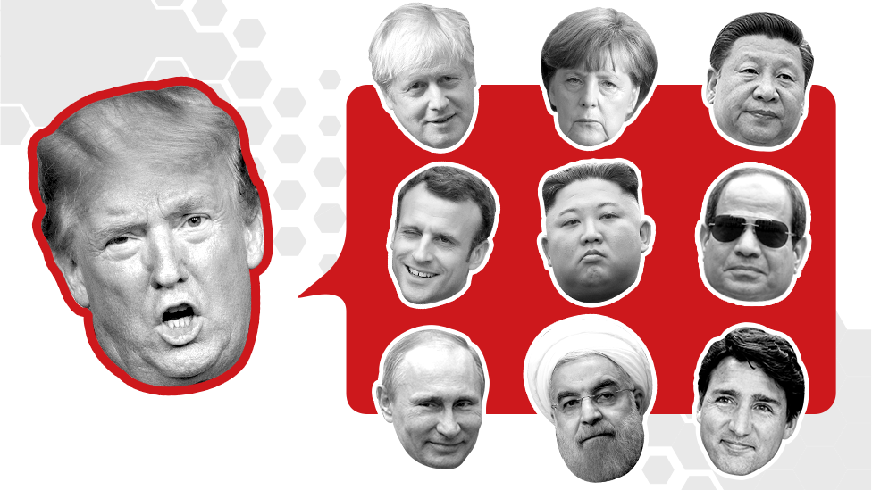 Promo image showing Donald Trump and other world leaders