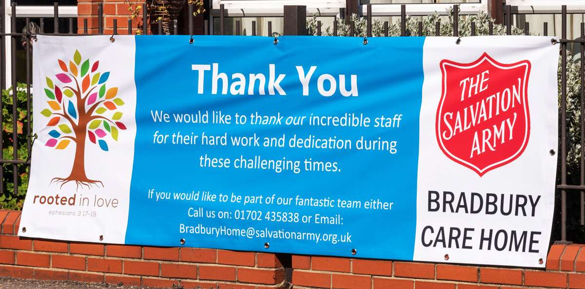 Sign outside a care home in Essex