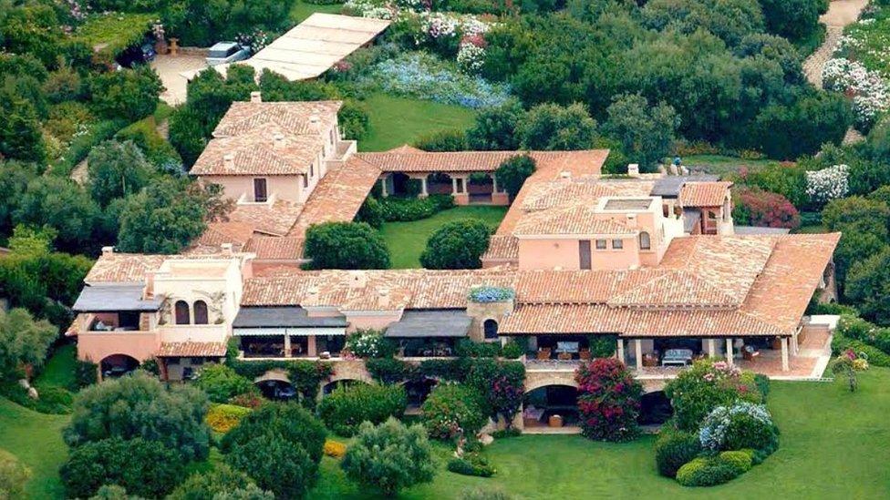 Villa Certosa, arquivo foto