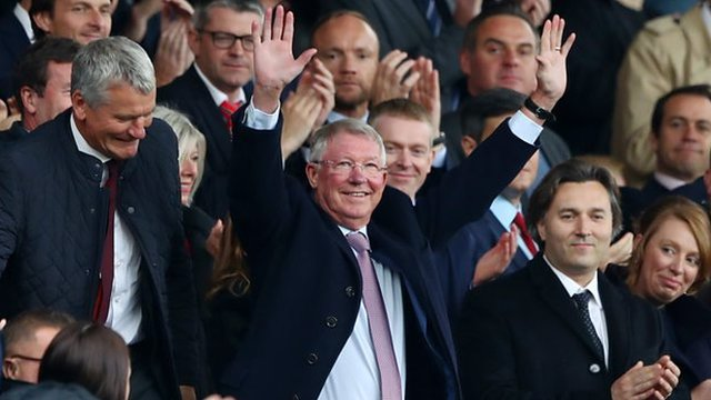 Sir Alex Ferguson given standing ovation by fans on Old Trafford return