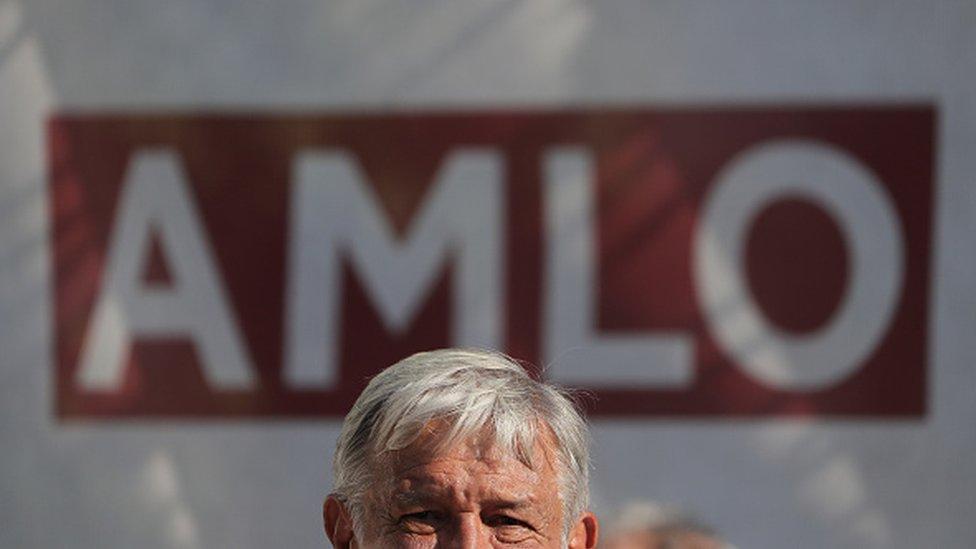 AMLO durante la campaña