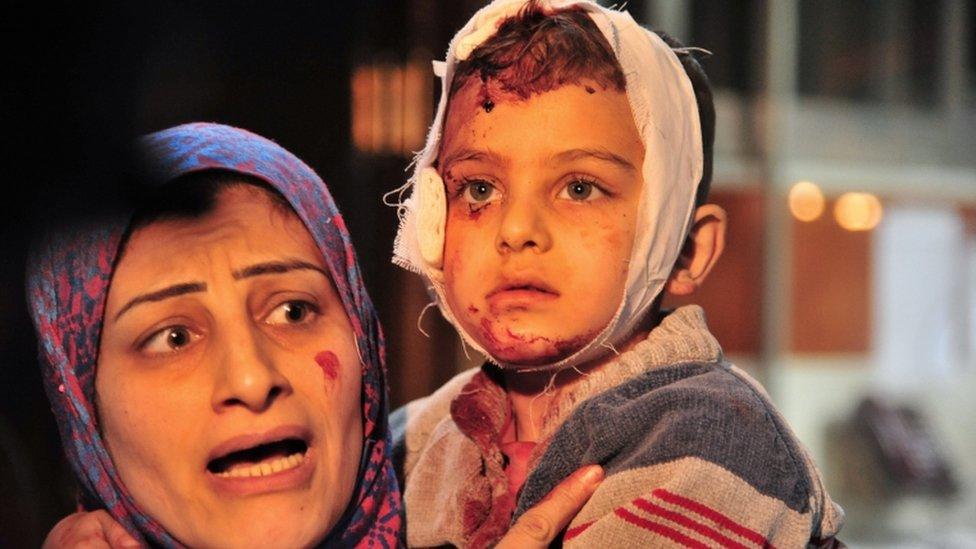 Aftermath of Sayyida Zeinab blasts, 21 Feb