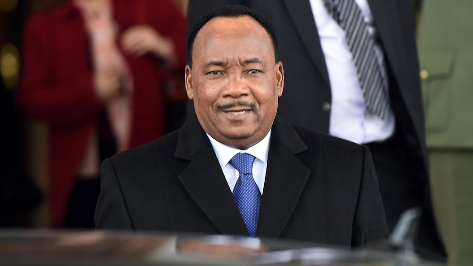 Niger's President Mahamadou Issoufou pictured earlier in 2015