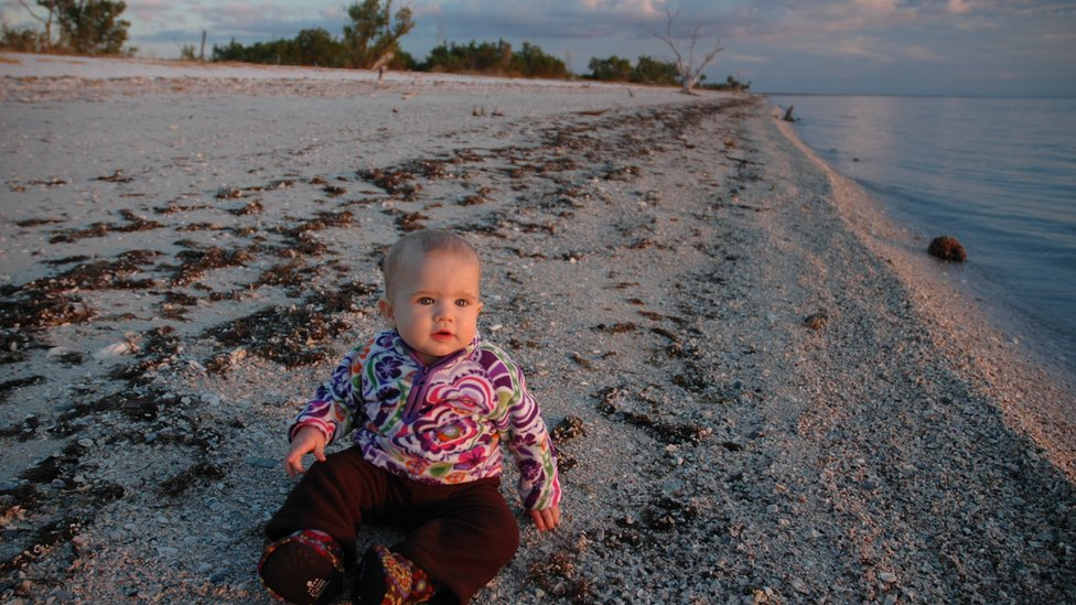 Skyla Means in the remotest spot in Florida