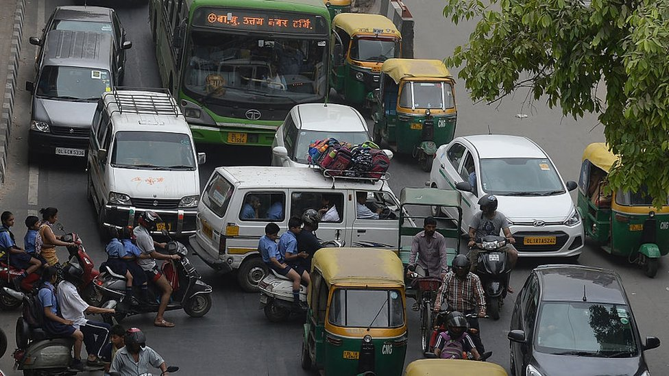 Traffic in Delhi