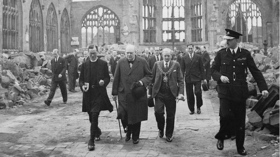 Churchill at the cathedral