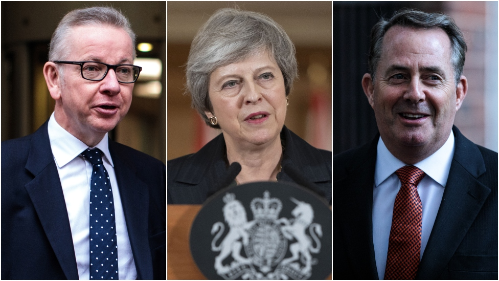 Brexit: Gove and Fox back May as PM seeks to quell Tory revolt