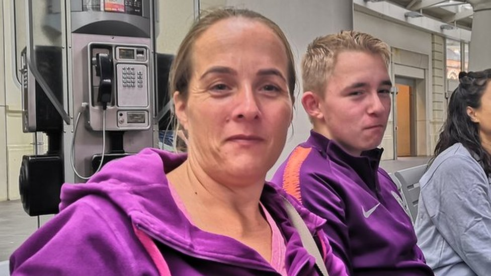 Samantha Dagnall and her son James