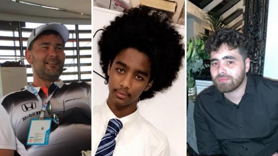 Dean Edwards, Ahmed Yasin-Ali and Billy McCullagh