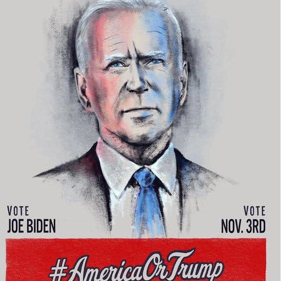 Dibujo de Joe Biden