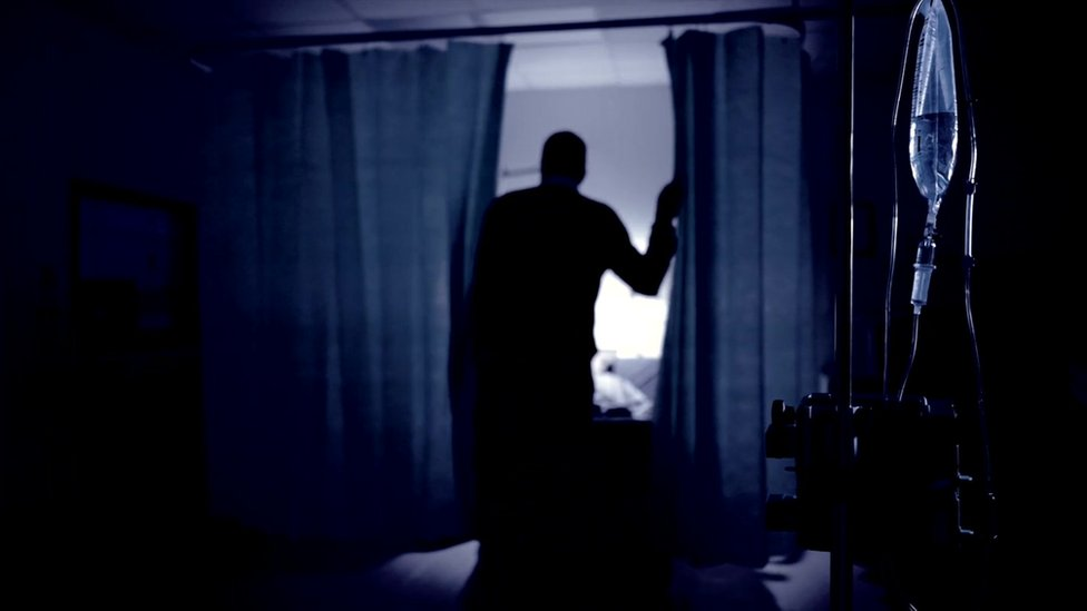 BBC reconstruction - silhouette in hospital treatment room