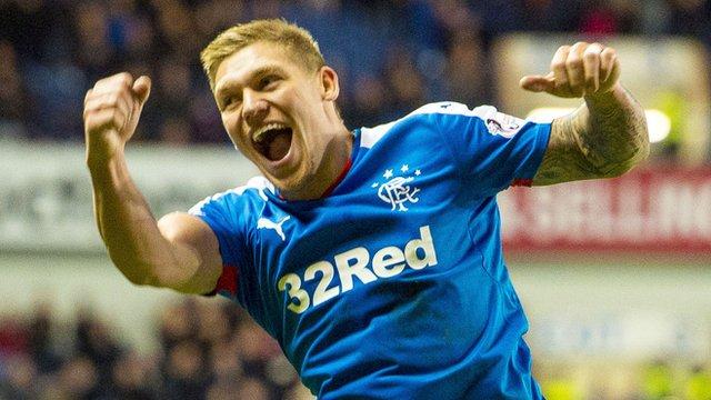 Rangers striker Martyn Waghorn